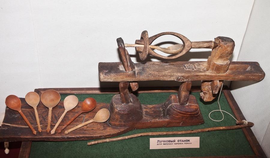 ручек деревянных ложек.